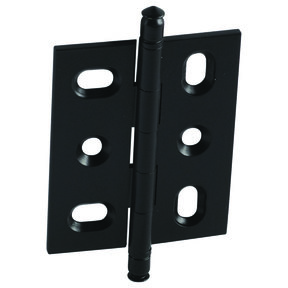 Mortise Solid Brass Butt Hinge with Finial in Black Matt