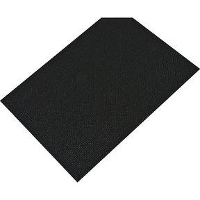 "Non-Slip Mat, Fiber Pattern, Black, 23-5/8"" x 46-1/16"""