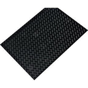 "Non-Slip Mat, Weave Pattern, Black, 23-5/8"" x 46-1/16"""