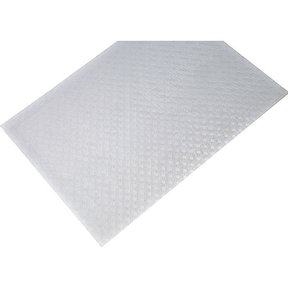 "Non-Slip Mat, Weave Pattern, White, 23-5/8"" x 46-1/16"""