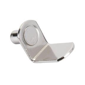"Bracket Style Shelf Support - 1/4"" Pin - Nickel - 25 Pack"