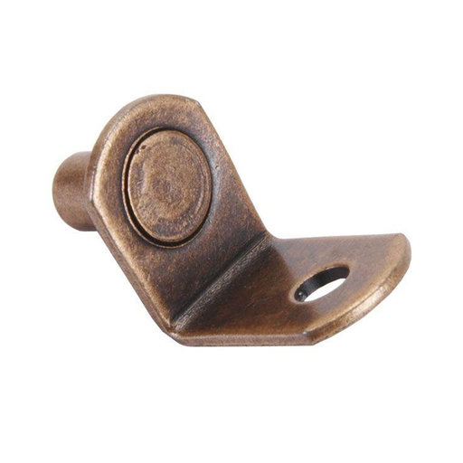 """View a Larger Image of Shelf Support 1/4"""" Pin Bracket Style with Hole Bronze 25 pk"""