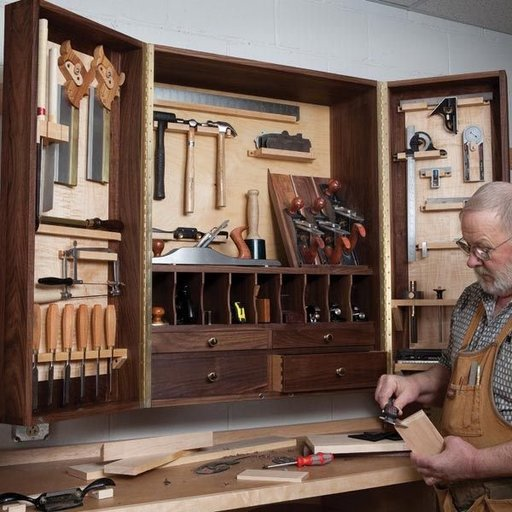 View a Larger Image of Hand Tool Cabinet - Downloadable Plan