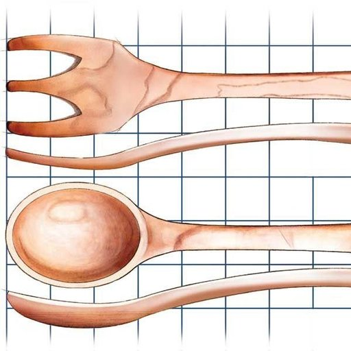 View a Larger Image of Handcrafted Wooden Utensils - Downloadable Plan
