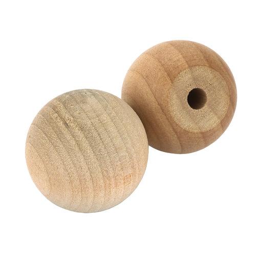"""View a Larger Image of Hardwood Ball Knob, 1"""" Dia., Flat 1/2"""" w/screws 2-piece"""