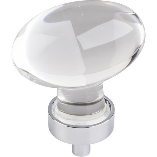 """View a Larger Image of Harlow Large Football Glass Knob,1-5/8"""" O.L., Polished Chrome"""