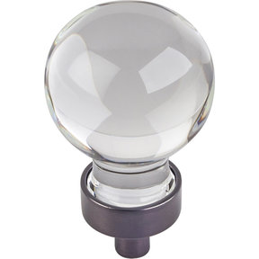 """Harlow Small Sphere Glass Knob, 1-1/16"""" Dia Brushed Oil Rubbed Bronze"""