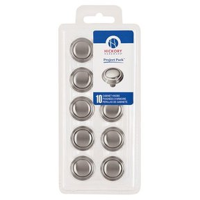 """1-1/8"""" Bel Aire Cabinet Knob Project Pack, Satin Nickel, 10 pieces"""