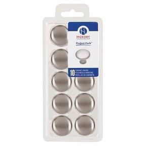 "1-1/8"" Metropolis Cabinet Knob Project Pack, Satin Nickel, 10 pieces"