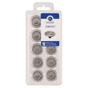 "1-3/8"" Cavalier Cabinet Knob Project Pack, Satin Nickel, 10 pieces"