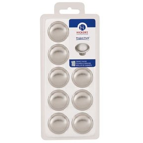 """1-3/8"""" Conquest Cabinet Knob Project Pack, Satin Nickel, 10 pieces"""