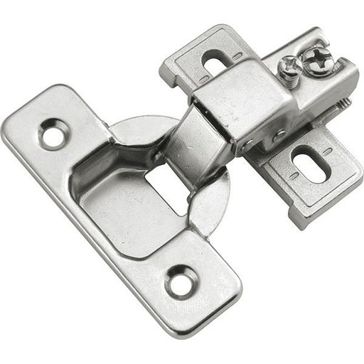 """View a Larger Image of Concealed Face Frame Hinge with 1/2"""" (2-piece) Overlay Project Pack, Bright Nickel"""