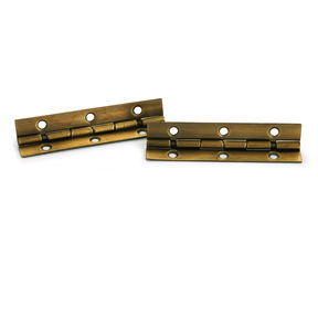 """105° Stop Hinge Antique Brass Plated 2"""" Pair"""