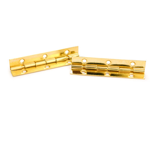 """View a Larger Image of 105°Stop Hinge Brass Plated 2"""" Pair"""