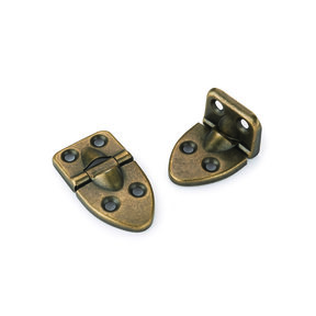 """90° Stop Hinge Antique Brass Plated 2-1/16"""" x 1-1/18"""" Pair"""