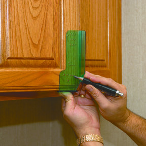 Cabinet Door Knob And Pull Drilling Guide Template