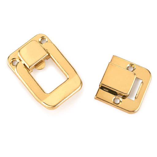 View a Larger Image of Case Draw Catch Polished Brass Plated with Screws 1 pc