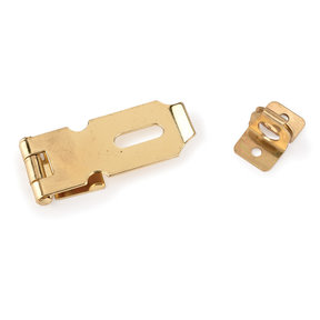 Chest Hasp Polished Brass Plated with Screws 1 pc