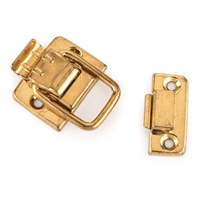 Draw Catch with Screws - Small - Polished Brass Plated