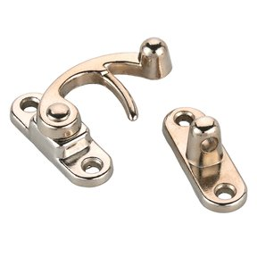 Hook Latch with Screws - Small - Nickel Finish