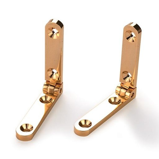 View a Larger Image of Side Rail Hinge Solid Brass Pair