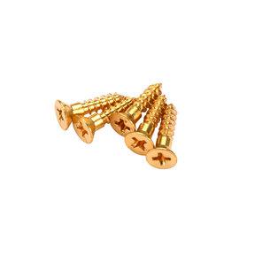 """Phillips Screws - #4 x 1/2"""" Solid Brass - 25 Piece"""
