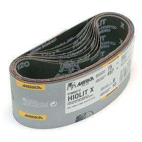 """3"""" x 21"""" Hiolit XO Portable Abrasive Belt, 120 Grit, 10 pk"""