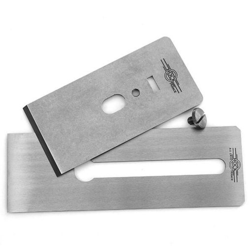 """View a Larger Image of Tools A2 2.38"""" Blade and Breaker for #6 and #7 Stanley/Record Planes"""