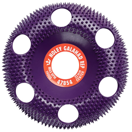 View a Larger Image of Holey Galahad Rnd Extreme coarse Purple