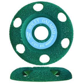 "Holey Galahad See Through Disc - 7/8"" Arbor - Round - Fine - Green"