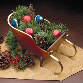Holiday Tabletop Sleigh Downloadable Plan