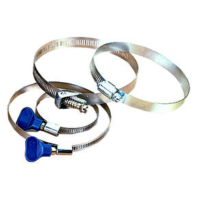 """Hose Clamps, 2-1/2"""" Keyed, (2)"""