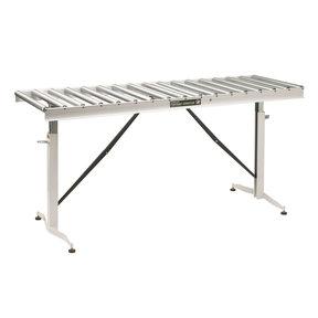 """Adjustable Folding Roller Conveyor Table, 66"""" x 24"""", HRT-90"""