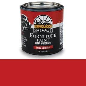 'I Need a Bandage' - Red Furniture Paint, 1/2 Pint 236.6ml (8 fl. Oz.)