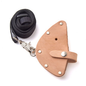 Deluxe Leather Sheath with Shoulder Strap and Belt Loop