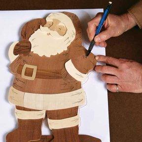 Intarsia Santa - Downloadable Plan