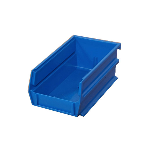 """View a Larger Image of 10ct - 7-3/8""""L x 4-1/8""""W x 3""""H Blue Stacking/Hanging Bins"""