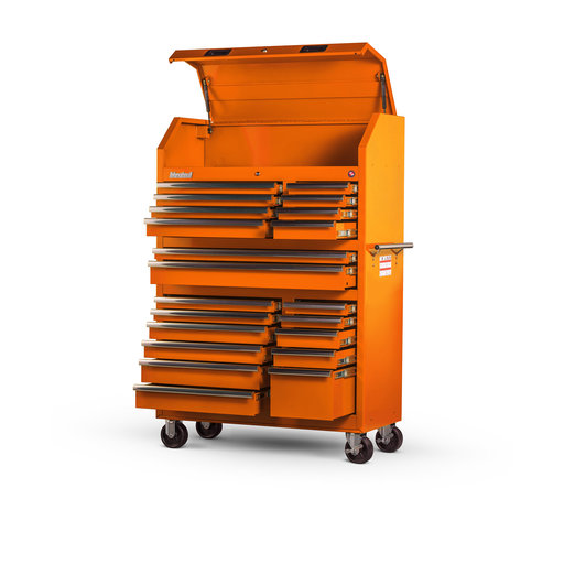 """View a Larger Image of Tech Series 42"""" 20-Drawer Tool Tower, Orange"""