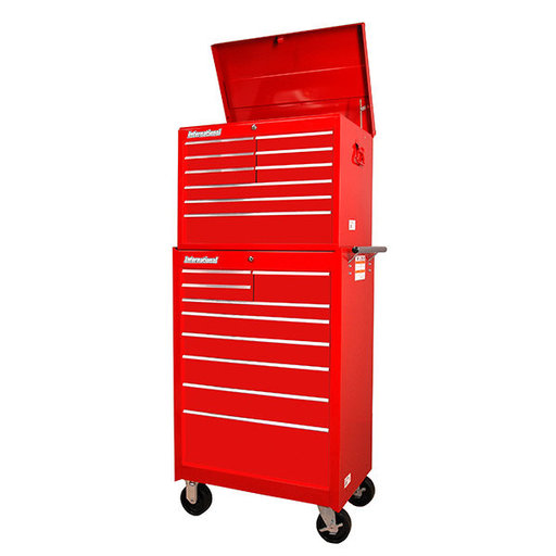 """View a Larger Image of Workshop Series 27"""" 18-Drawer Deep Chest and Cabinet, Red"""