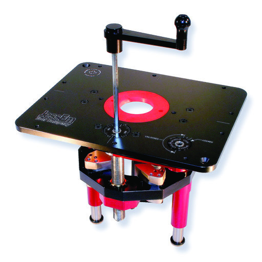 """View a Larger Image of Mast-R-Lift II Router Lift With 9-1/4"""" x 11-3/4"""" Plate, # 02120"""