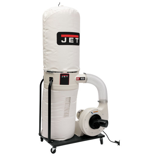 View a Larger Image of Vortex Cone Dust Collector, 1.5HP 1PH 115/230V, 30-Micron Bag Filter Kit, Model DC-1100VX-BK