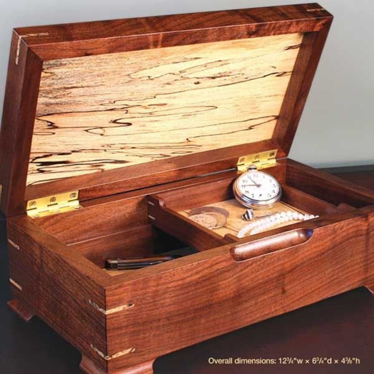 View a Larger Image of Jewelry/Keepsake Box - Downloadable Plan