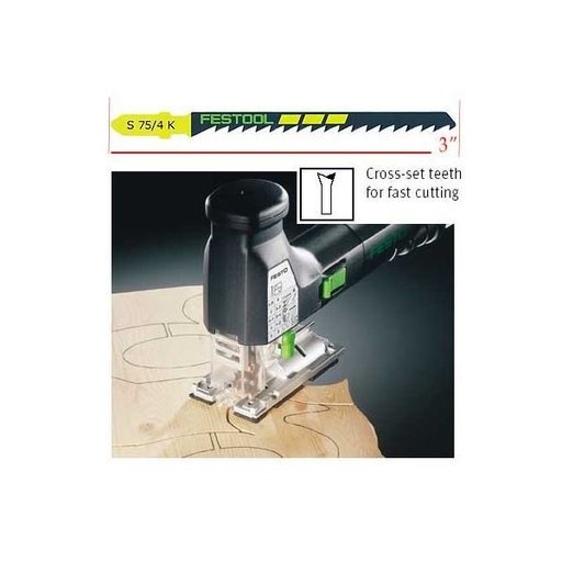 View a Larger Image of Festool S 75/4 Clean-Cut Jigsaw Blades, 3 Inch, 6 TPI, 25-Pack