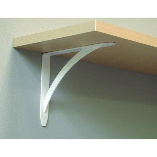 "View a Larger Image of John Sterling Elegante Decorative Bracket, 10"", White Finish"