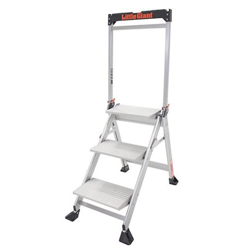 View a Larger Image of Jumbo Step 3-Step Ladder