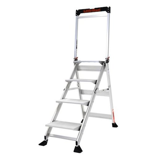 View a Larger Image of Jumbo Step 4-Step Ladder