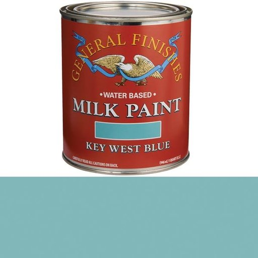 View a Larger Image of Key West Blue Milk Paint Water Based Quart