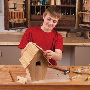Kid-Built Blue Bird House - Downloadable Plan