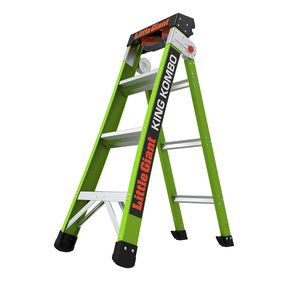 King Kombo Professional 4', 3-In-1 Combination Ladder