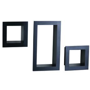 Knape & Vogt 3-Piece Frame Cube Shelf Set, Black Finish